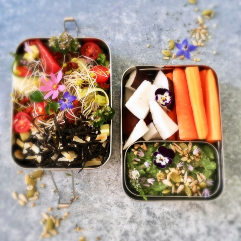 Healthy Lunch Ideas: Vegan Keto Bento Box | High Fat Low Carb + Paleo