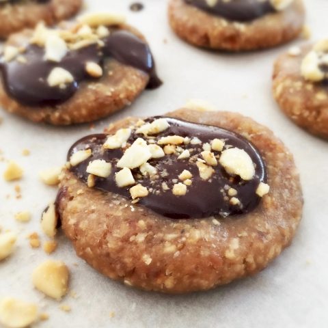 Vegan Keto Chocolate Covered Peanut Butter Cookies (Only 6 ingredients!)