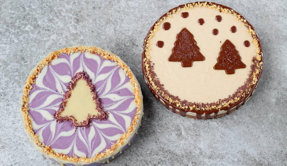 Christmas Cheesecake.Vegan Holiday Menu Gluten Free Christmas Cheesecake