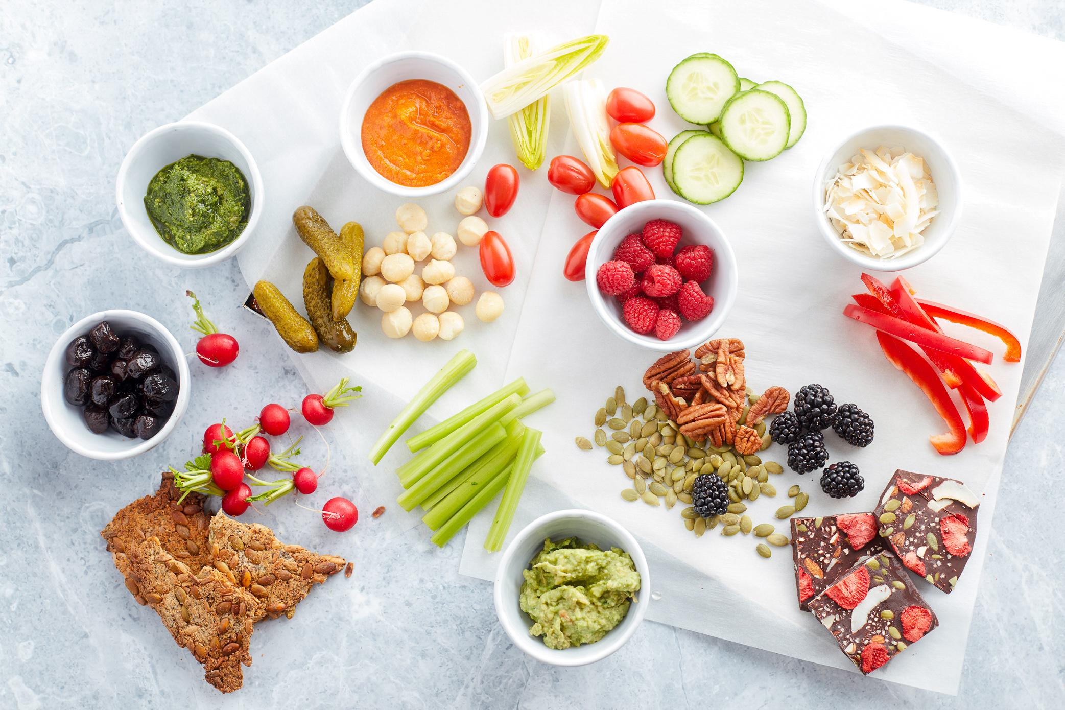 Easy Vegan Keto Snack Platter Low Carb Paleo Dairy Free