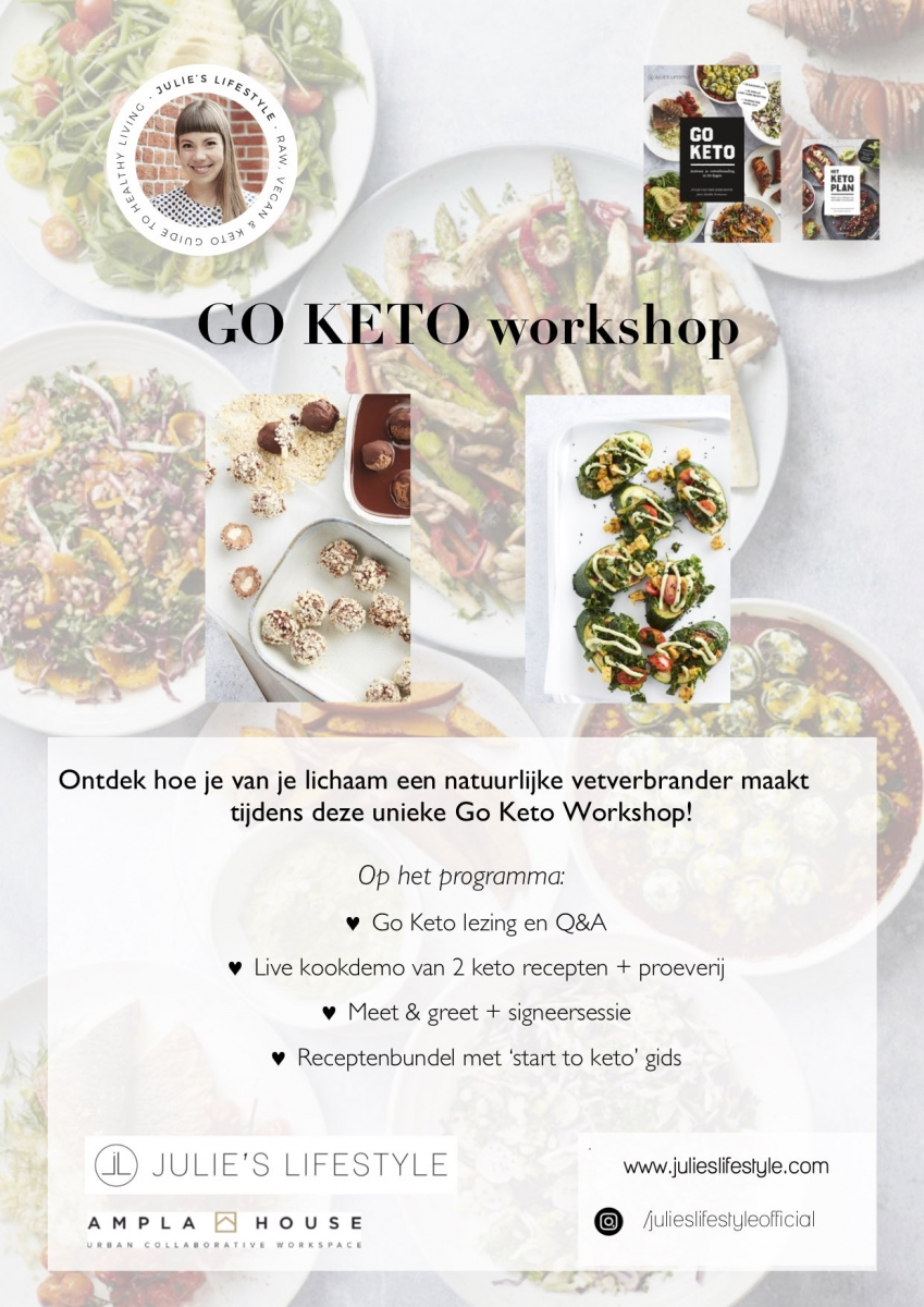 Go Keto Workshop op 26 september 2019 bij Ampla House in Gent