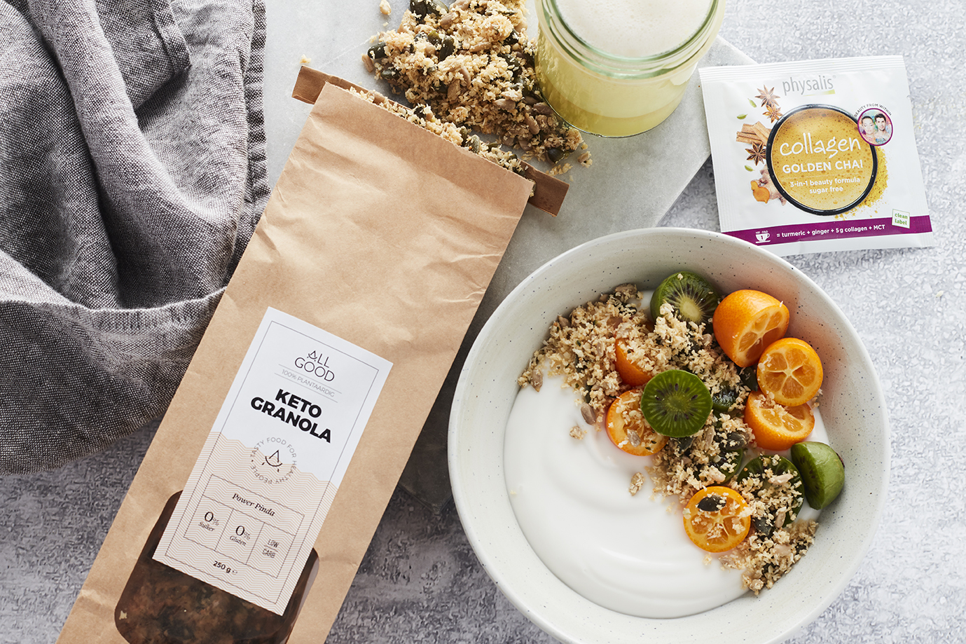 Nieuw! ALL GOOD Christmas Keto Box (Limited Edition) + Recepten voor Golden Chai Latte & Keto Granola Bowl
