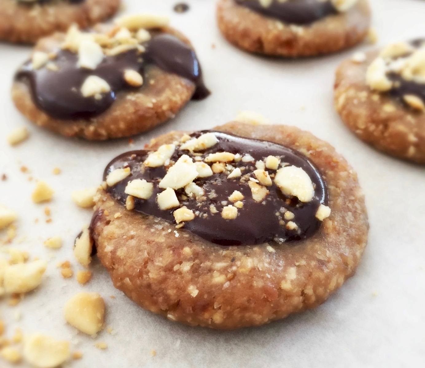 The Ultimate Vegan Keto Peanut Butter Cookies + Chocolate (low carb, sugar free, gluten free, paleo)