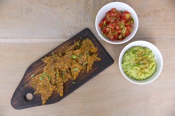 ALL GOOD Tortilla Chips with Guacamole & Tomato Salsa