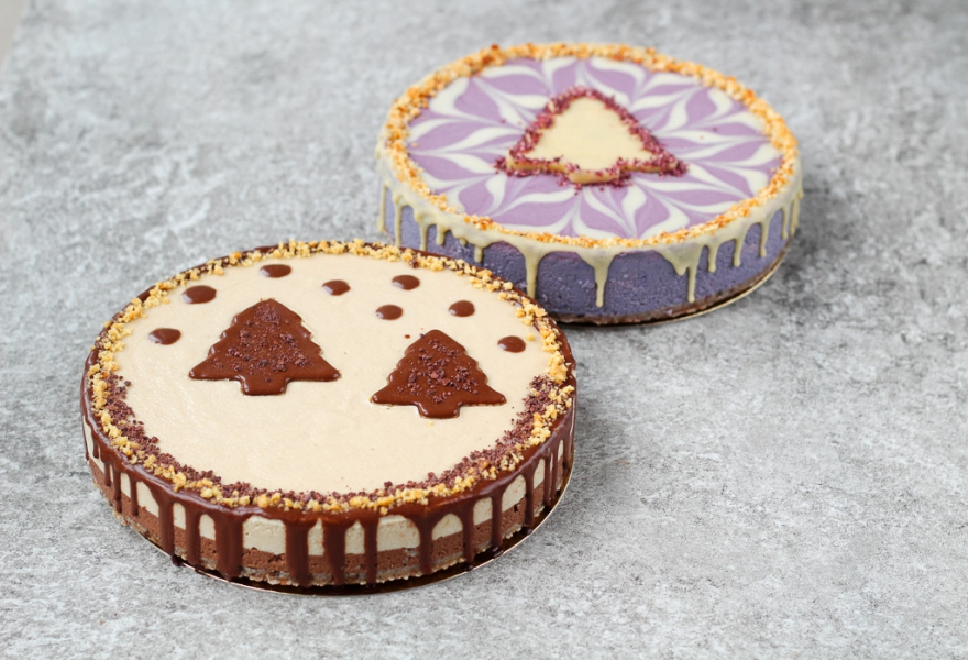 Vegan Holiday Menu: ALL GOOD Christmas Cheesecakes - Blackberry Vanilla & Peanut Butter Fudge