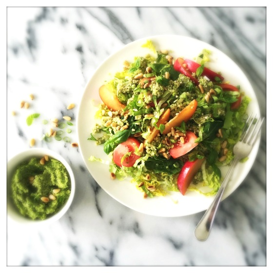 Plum & Pesto Quinoa Salad